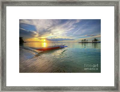 Panglao Island Sunset Framed Print