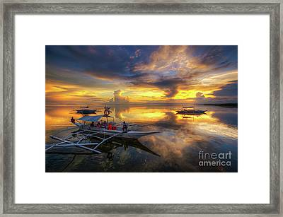 Framed Print featuring the photograph Panglao Port Sunset 10.0 by Yhun Suarez