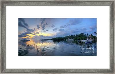 Panglao Port Sunset 11.0 Framed Print