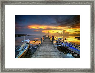 Framed Print featuring the photograph Panglao Port Sunset 8.0 by Yhun Suarez