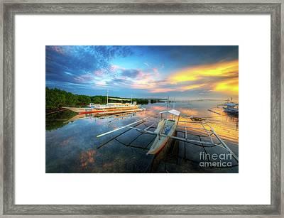 Framed Print featuring the photograph Panglao Port Sunset 9.0 by Yhun Suarez
