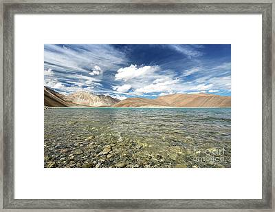 Framed Print featuring the photograph Pangong Lake  by Yew Kwang
