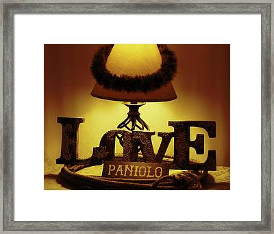 Framed Print featuring the photograph Paniolo Love by Pamela Walton