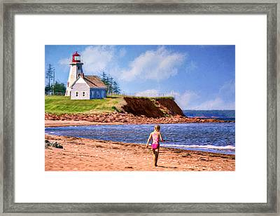 Panmure Head - Beach - Pei Framed Print