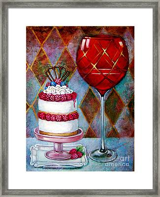 Panna Cotta Ice Cream Sandwich Framed Print by Geraldine Arata