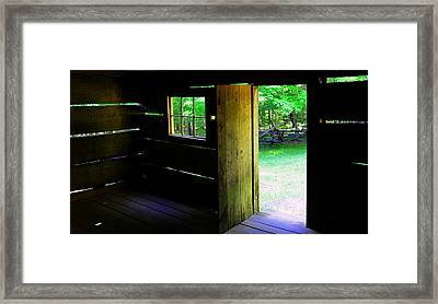 Pano Cabin Framed Print by David Lee Thompson