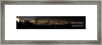 Pano From Griffeth Observatory  Framed Print by Clayton Bruster