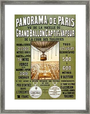 Panorama De Paris Framed Print