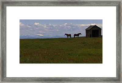 Panorama Of Alberta Framed Print by Al Bourassa