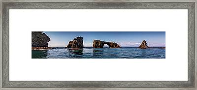 Framed Print featuring the photograph Panorama Of Anacapa Rocks by Endre Balogh