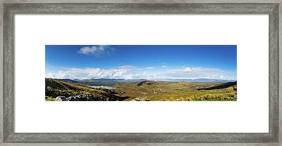 Framed Print featuring the photograph Panorama Of Ballycullane And Lough Acoose In Ireland by Semmick Photo