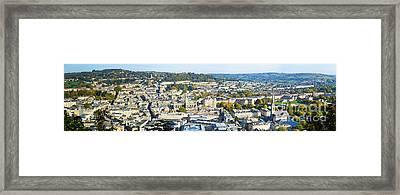 Panorama Of Bath Framed Print