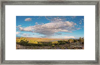 Panorama Of Cloud Formation Over Cochiti Lake - Rio Grande Valley New Mexico Framed Print
