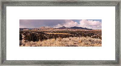 Panorama Of Cochiti Lake Golf Club - Cochiti Pueblo Jemez Mountains New Mexico Framed Print by Silvio Ligutti