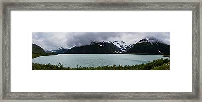 Panorama Of Cold Lake Framed Print