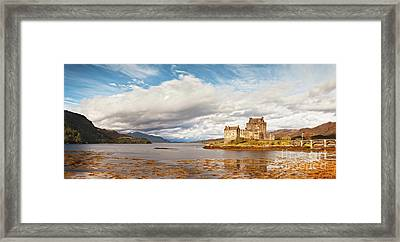 Panorama Of Eilean Donan Castle Scotland Framed Print