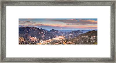 Panorama Of Fall River Road From Rainbow Curve Overlook - Rocky Mountain National Park - Estes Park Framed Print