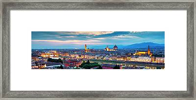 Framed Print featuring the photograph Panorama Of Florence by Fabrizio Troiani
