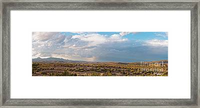 Panorama Of Jemez Mountains And Cochiti Lake Recreation Area - Cochiti Pueblo New Mexico Framed Print
