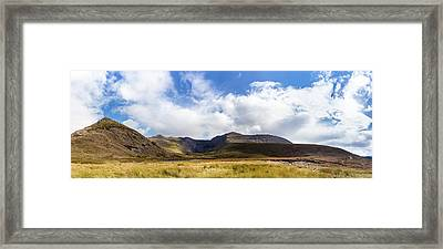 Framed Print featuring the photograph Panorama Of Macgillycuddy's Reeks In County Kerry by Semmick Photo