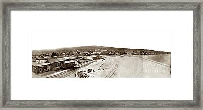 Watkins Panorama Of Monterey, California 1882 Framed Print by California Views Mr Pat Hathaway Archives