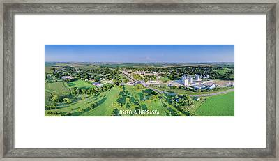 Panorama Of Osceola Nebraska Poster Version Framed Print