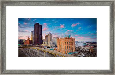 Panorama Of Pittsburgh  Framed Print by Emmanuel Panagiotakis