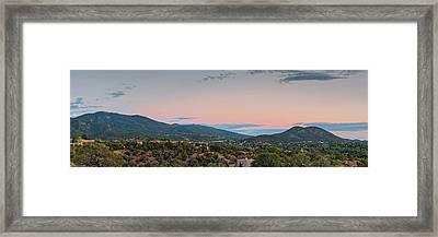 Panorama Of Santa Fe Sangre De Cristo Mountains - New Mexico Land Of Enchantment Framed Print