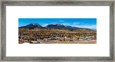 Panorama Of Silverthorne In The Fall - White River National Forest - Rocky Mountains - Colorado Framed Print