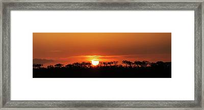 Panorama Of South African Sunset Framed Print by Susan Schmitz