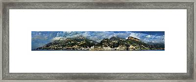 Panorama Of The Amalfi Coastline Framed Print by David Smith