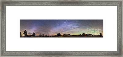 Panorama Of The Celestial Night Sky Framed Print by Alan Dyer