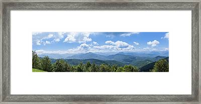 Framed Print featuring the photograph Panorama Of The Foothills Of The Pyrenees In Biert by Semmick Photo