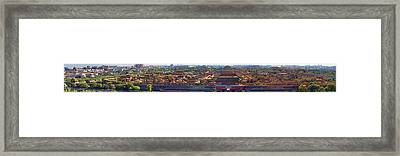 Panorama Of The Forbidden City In Bejing Framed Print by David Smith