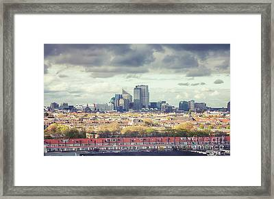 Framed Print featuring the photograph panorama of the Hague modern city by Ariadna De Raadt