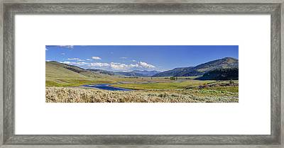 Panorama Of The Lamar Valley Framed Print