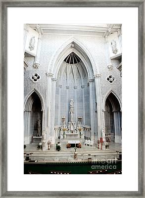 Panorama Of The Main Altar Of St. John The Evangalist Roman Catholic Church Schenectady Framed Print