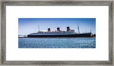 Panorama Of The Queen Mary Framed Print