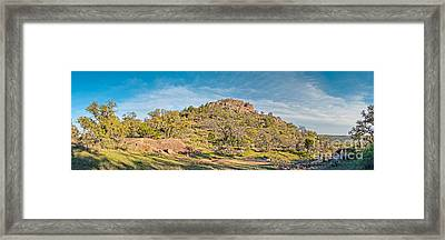 Panorama Of Turkey Peak At Enchanted Rock State Natural Area - Texas Hill Country Framed Print by Silvio Ligutti