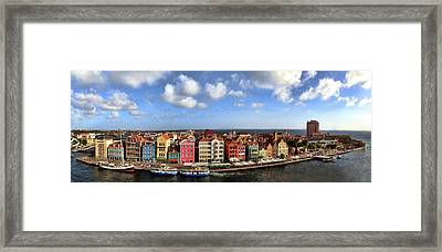 Panorama Of Willemstad Harbor Curacao Framed Print