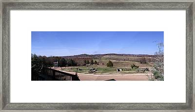 Panorama View At Arrington Vineyards Framed Print by Marian Bell