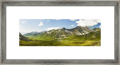 Panorama View Of Independence Mine Framed Print by Ray Bulson