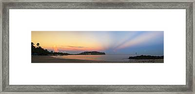Panoramic 4- St Lucia Framed Print