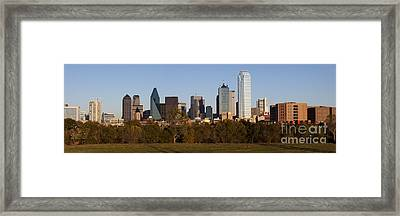 Panoramic - Dallas Texas Framed Print by Anthony Totah