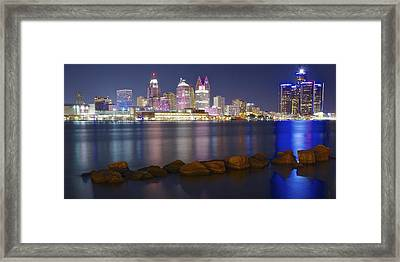 Panoramic Detroit Framed Print by Frozen in Time Fine Art Photography