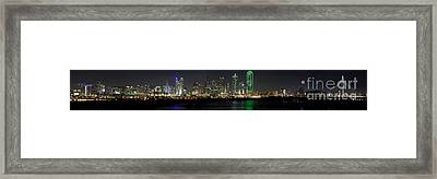 Panoramic Downtown Dallas, Texas Framed Print by Anthony Totah