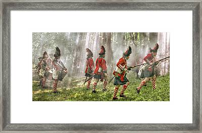 Panoramic French And Indian War Battle Framed Print by Randy Steele