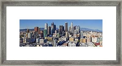 Panoramic Los Angeles 2016 Framed Print by Kelley King