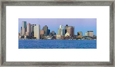 Panoramic Of Boston Harbor Framed Print by Panoramic Images