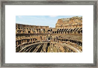 Inside The Colosseum Framed Print